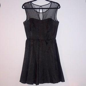 Guess dress black on black animal print